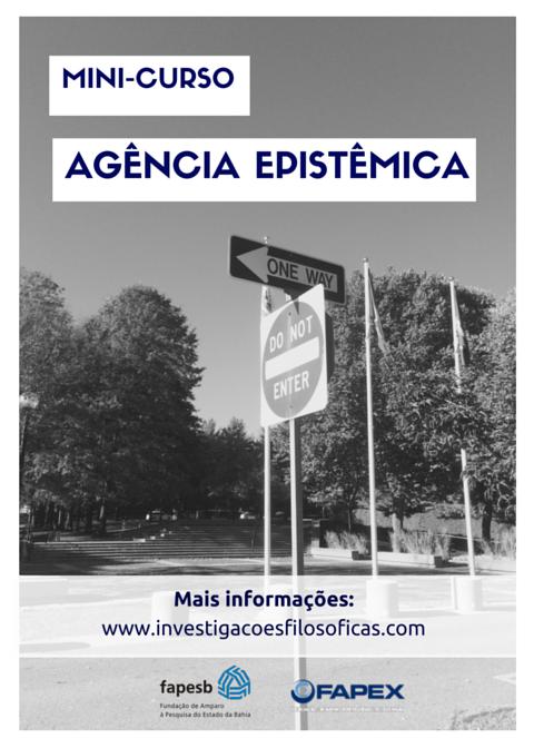 Mini-curso: Agência EpistêmicaMini-curso: Agência Epistêmica