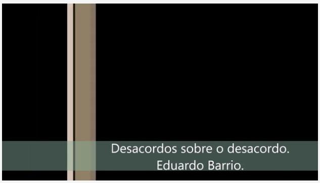 """Eduardo A. Barrio - """"Desacordo sobre Desacordos"""""""