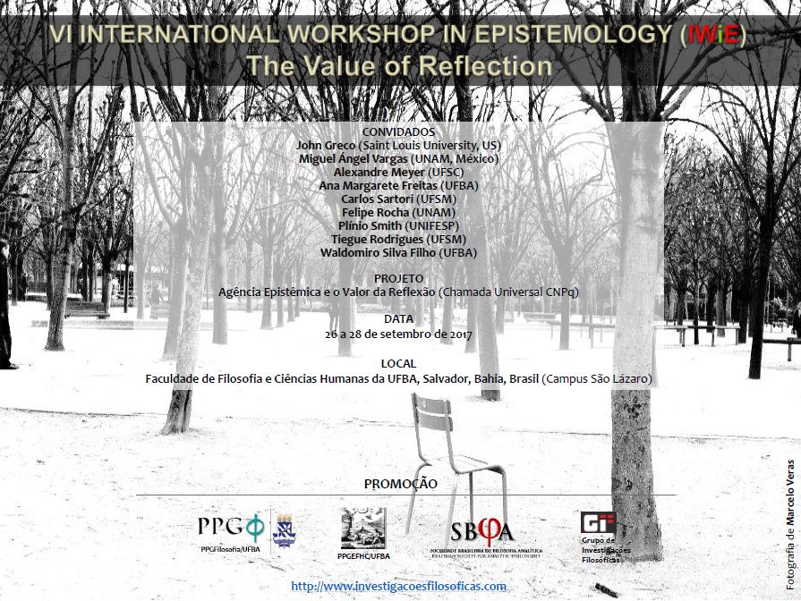 VI International Workshop In Epistemology - Salvador - Bahia - Brasil